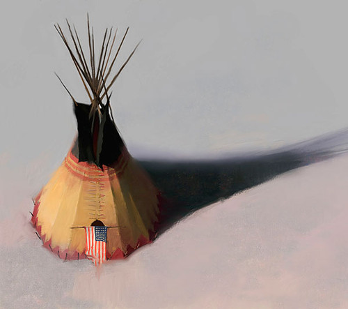 Teebow Tipi, by R. Tom Gillion LIMITED EDITION CANVAS