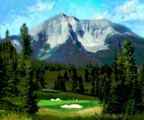 16th Hole, Moonlight Basin, Big Sky, by R. Tom Gilleon LIMITED EDITION PRINT