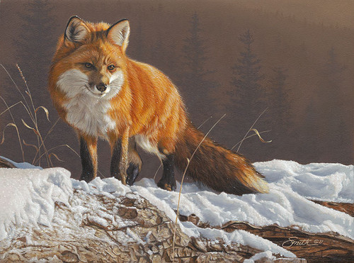 Radiant Red, by Daniel Smith SMALLWORK CANVAS EDITION