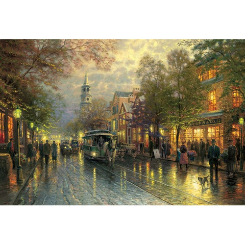 Evening on the Avenue, Charelston, Thomas Kinkade, 18 x 27 canvas