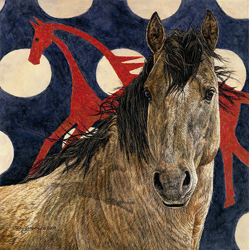 The Horse Tipi, Judy Larson LIMITED EDITION CANVAS