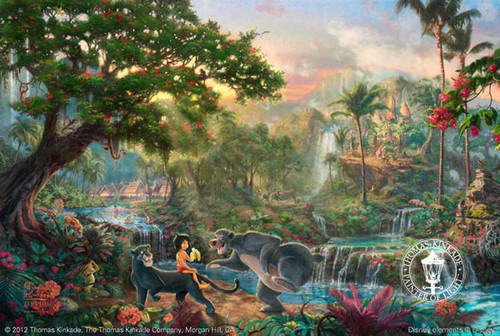 The Jungle Book by Thomas Kinkade - Framed Canvas