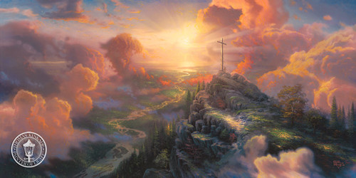 The Cross by Thomas Kinkade limited edition canvas