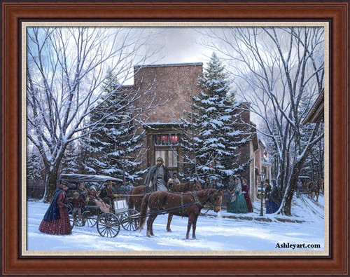 Sunday in Winchester - John Paul Strain Classic Giclee Canvas Framed