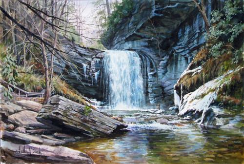 Looking Glass Falls by Luke Buck
