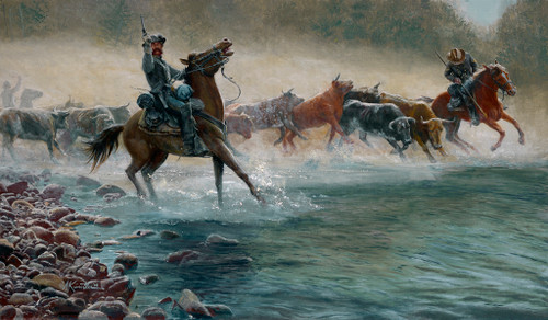 The Great Beefsteak Raid, by  Mort Kunstler, Signature Canvas