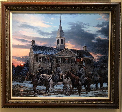 DEFENDERS OF THE VALLEY - John Paul Strain - Executive Canvas Framed