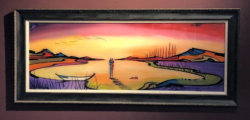 Gockel painting framed at Ashley's Art Gallery