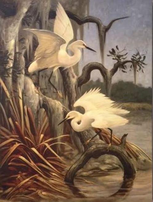 Egret Painting