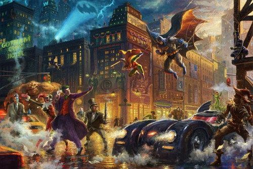 Dark Knight Saves Gotham City by Thomas Kinkade Studios