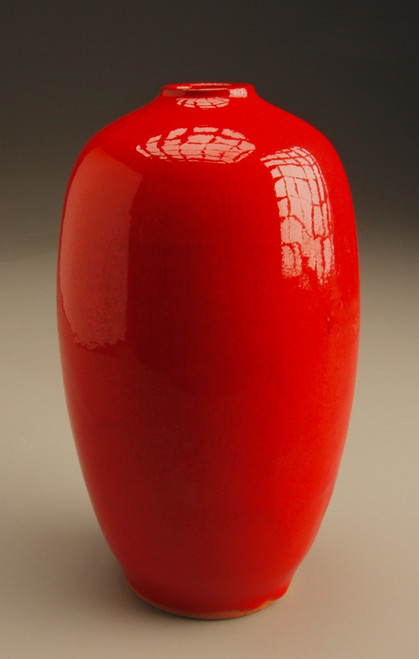 Chinese Red Egg Vase
