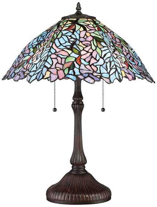Trellis art glass lamp