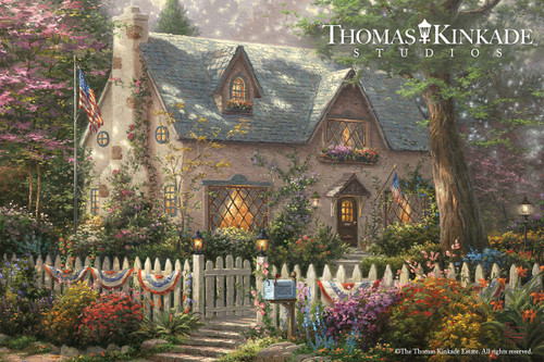 Liberty Lane Cottage Thomas Kinkade