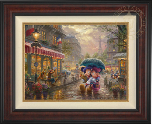 Mickey & Minnie in Paris 18x24 framed canvas