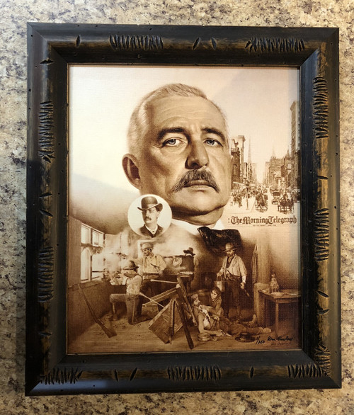 Bat Masterson Two Worlds of Bat Masterson by Don Crowley framed