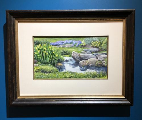 Bill Mangum painting Brookside