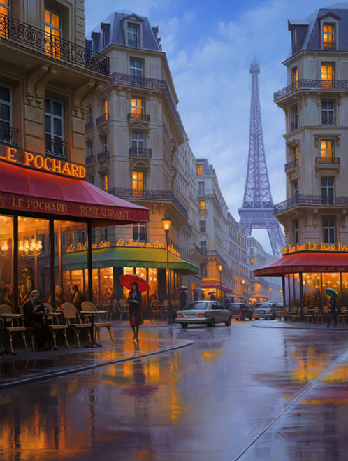 Paris scene by Alexei Butirskiy