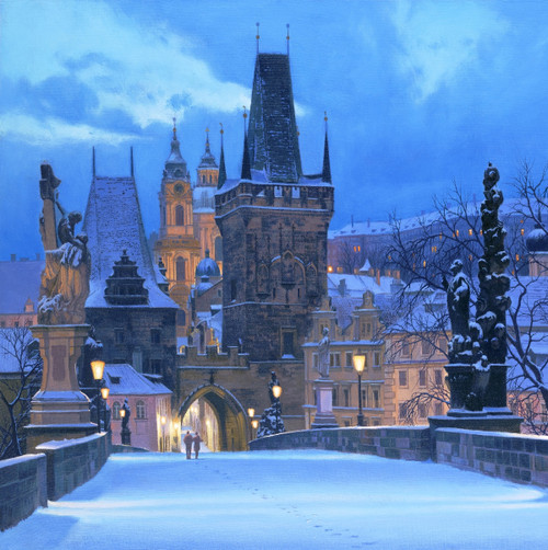 Charles Bridge painting by Alexei Butirskiy