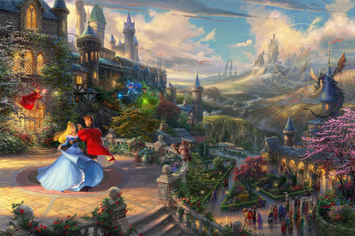 Disney's Sleeping Beauty - Dancing in the Enchanted Moonlight - Thomas Kinkade Studios