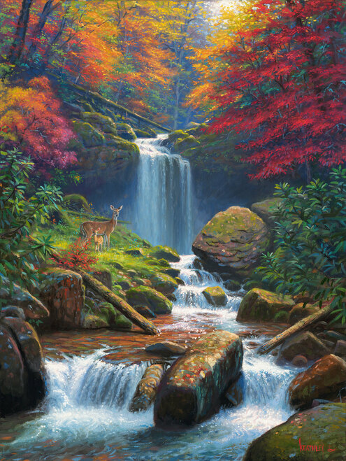 Mystic Falls II by Mark Keathley - Framed