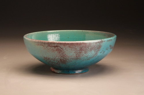 Square Shoulder Bowl Chinese Blue by Ben Owen III