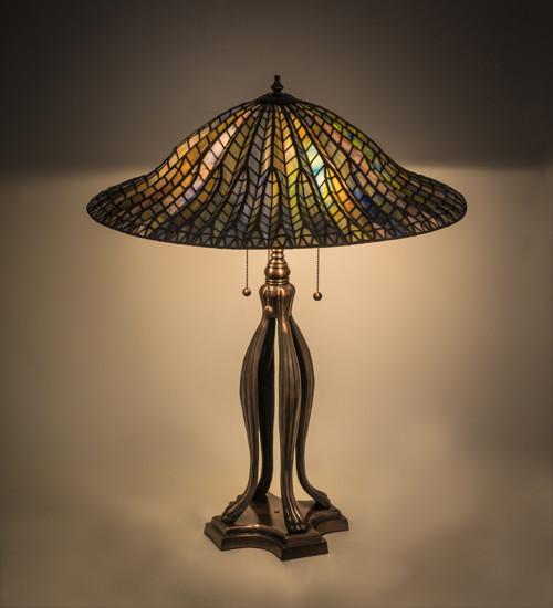 Tiffany Style Lotus Leaf Table Lamp