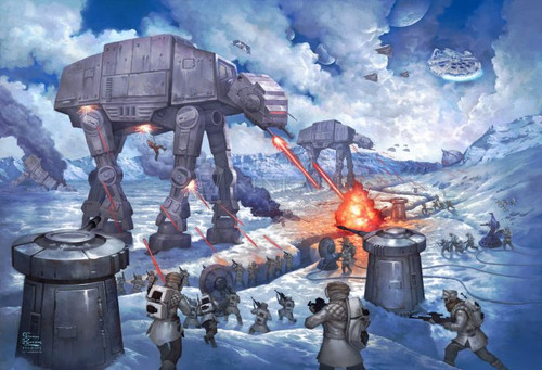 Battle of Hoth - Star Wars  by Thomas Kinkade Studios