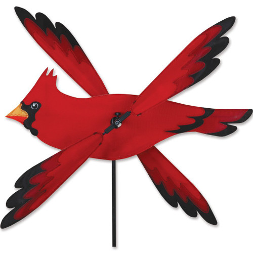 Cardinal whirly-gig spinner