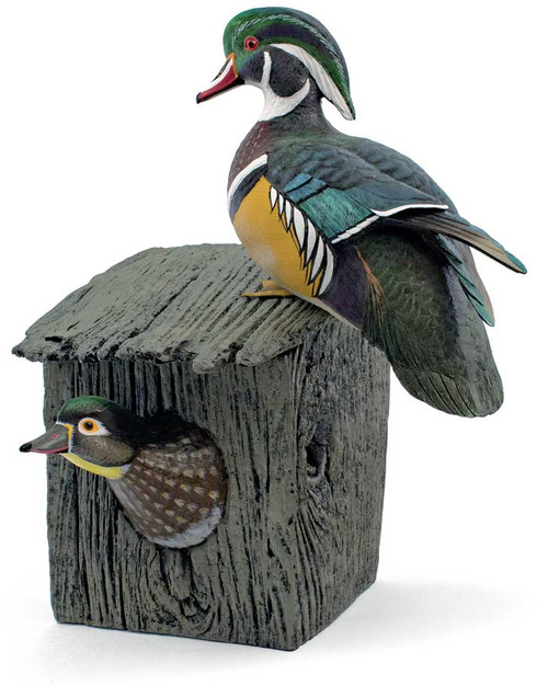 Wood Duck House Sculpture