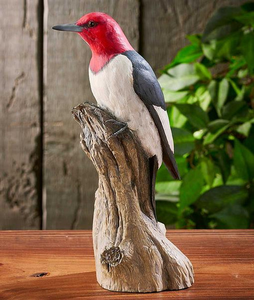Woodpecker carving reproduction