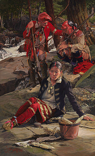 Kinsman to the Shawnee by John Buxton LIMITED EDITION PRINT