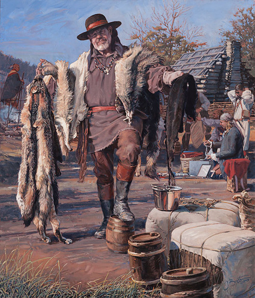 The Fur Trader by John Buxton LIMITED EDITION CANVAS