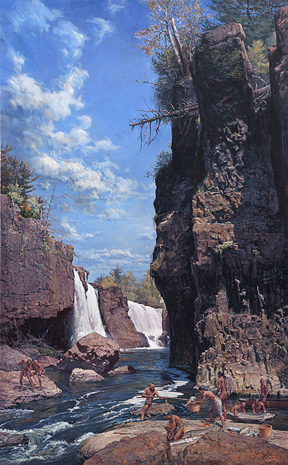 Great Falls of the Passaic by John Buxton
