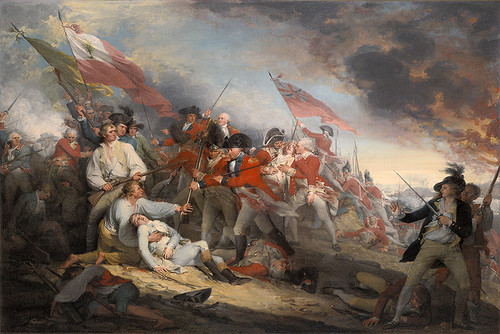 The Battle of Bunker Hill, June 17, 1775, by John Trumbull, SMALL CANVAS