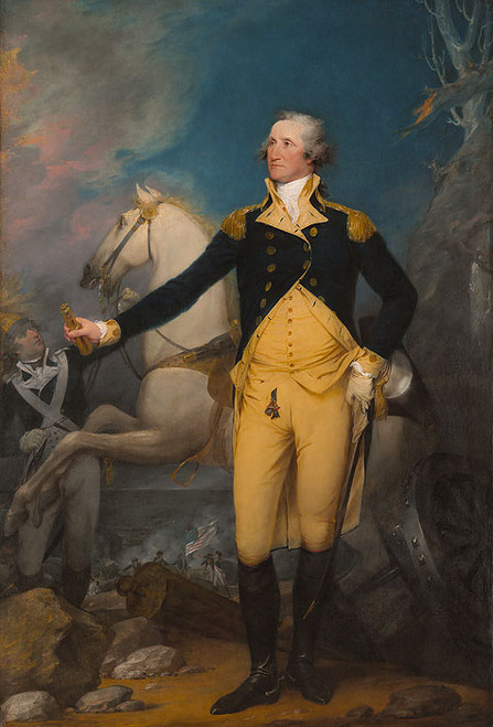 General George Washington at Trenton by John Trumbull - Large Canvas