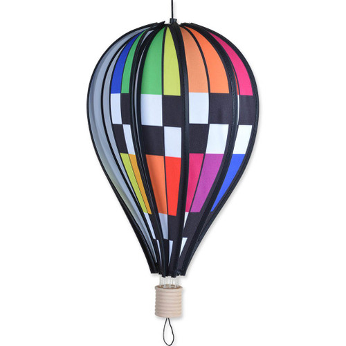 "18"" Checkered Rainbow Balloon Spinner"