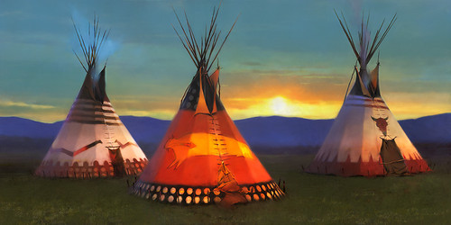Blackfeet Country by R. Tom Gilleon Limited Edition Canvas