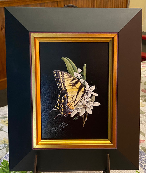 Yellow Swallowtail Butterfly painting
