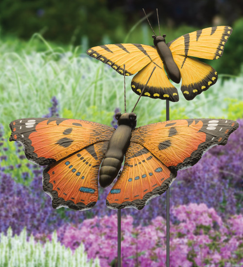 Metal Butterfly Stake -36"