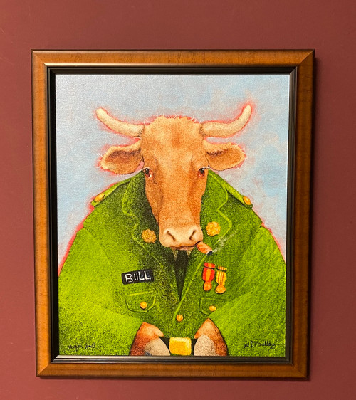Major Bull  by Will Bullas - Framed Canvas