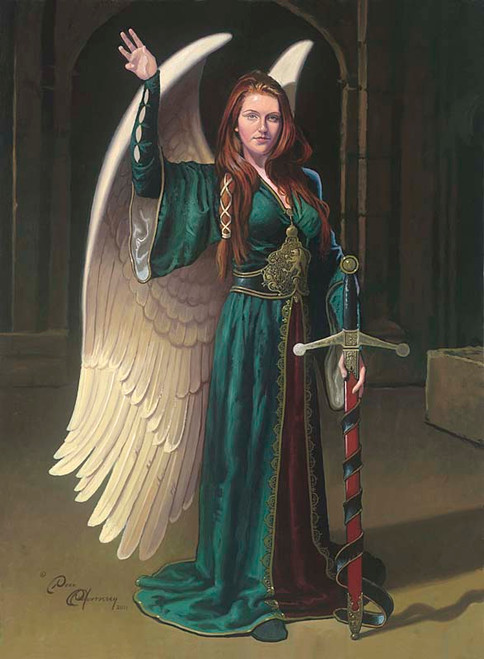 Bridget the Celtic Angel by Dean Morrissey