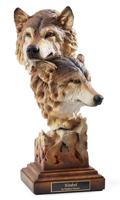 Wolf Sculpture by Stephen Herrero