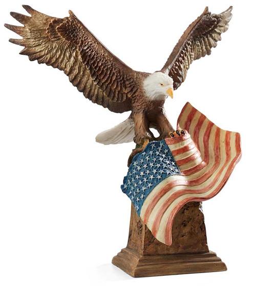 Patriotic Eagle Sculpture - Slockbower