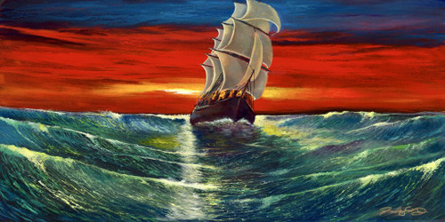 Ford Smith original ship painting