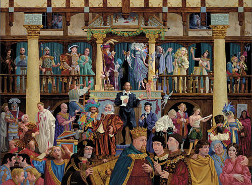 ALL THE WORLD´S A STAGE, James Christensen LIMITED EDITION PRINT