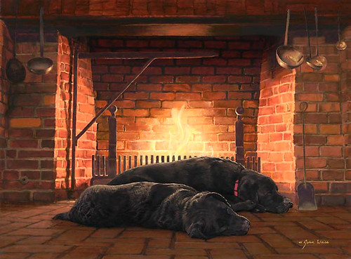 FIRESIDE FRIENDS, John Weiss LIMITED EDITION CANVAS