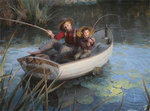 The Fishing Hole, Morgan Weistling MASTERWORK CANVAS EDITION