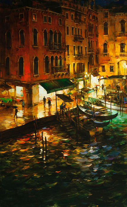 Night Quay by Dmitri Danish