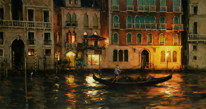 Night on the Grand Canal, Venice by Dimitri Danish