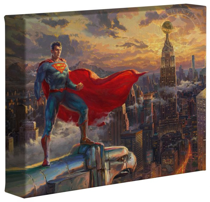 Superman – Protector of Metropolis – 10″ x 12″ Gallery Wrapped Canvas